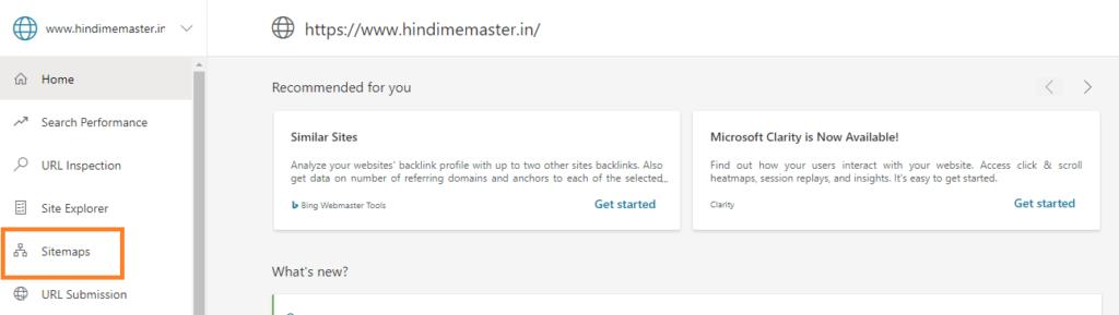 Bing WebMaster Tool Me Sitemap Kaise Submit Kare?